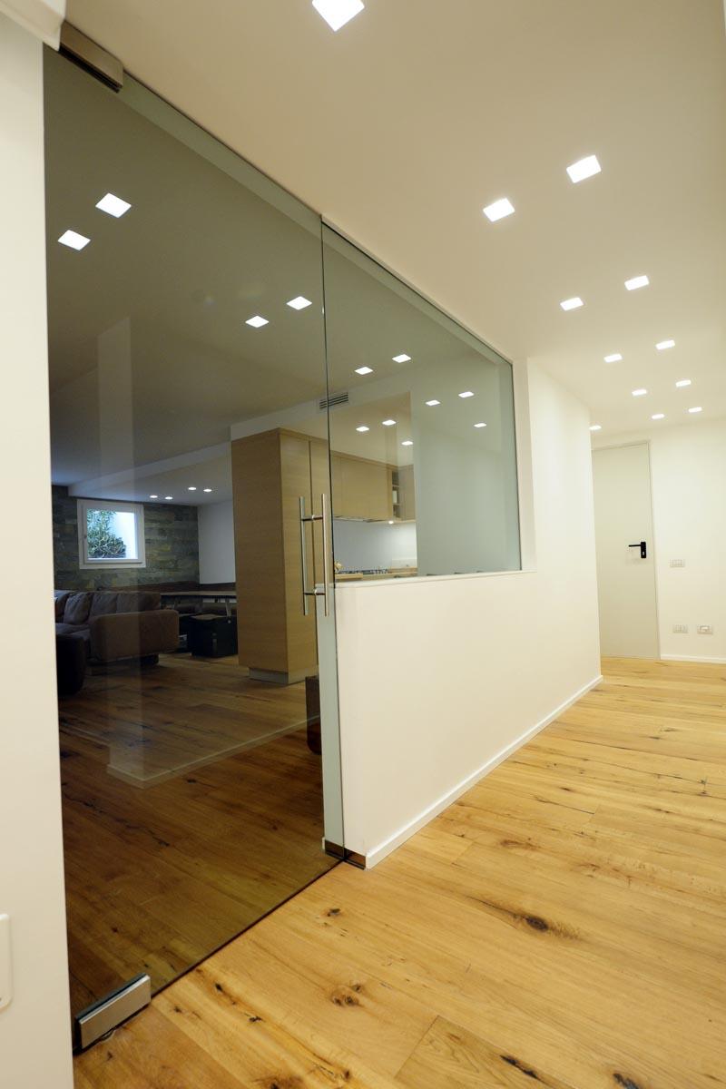 Porta interna in vetro falegnameria casali - Vetro porta interna ...