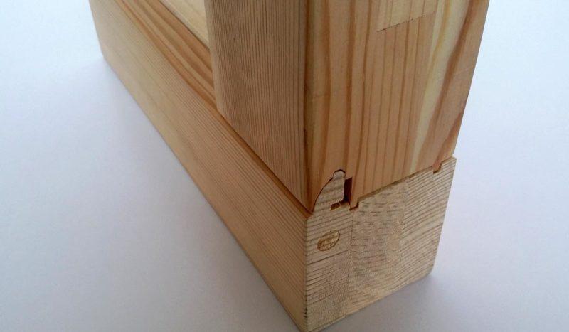 Dettaglio profilo serramento ad incastro